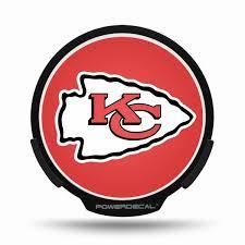 Kansas City Chiefs Led Window Decal Light Up Logo Powerdecal Nfl Balmart Sports Merchandise