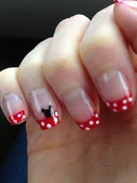 Mickey Mouse nails idea, found on Pinterest....turned out perfect ...