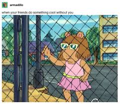 When Your Friends Do Something Cool Without You D W Holding Fence Know Your Meme