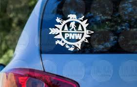 Pnw Pacific Northwest Washington Oregon Idaho Car Vinyl Decal Etsy