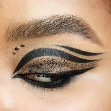 gothic eye makeup blackout paper