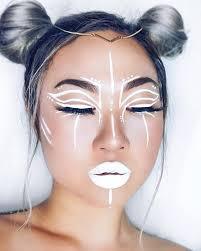 evatornado white lines art makeup