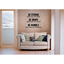 Shop Inscription Be Strong Brave And Humble Wall Art Sticker Decal Overstock 11526340