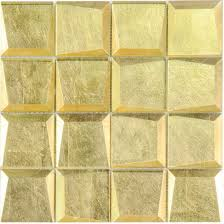 hot gold glass mosaic tile