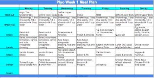 piyo meal plan and prep