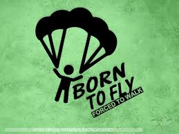 Skydiving Decal Born To Fly Forced To Walk Decal Parachute Etsy