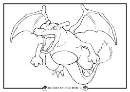 Charizard Kleurplaten Gratis Printen Kleurplaat Pokemon