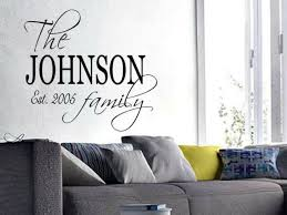 Family Name Est Personalized Wall Art Decal Quote Words Lettering Decor Diy For Sale Online