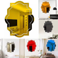 Mirror Sticker Home Decoration For Home Stickers Nordic Acrylic Mirror Polygon Wall Camera Props Kids Room Wall Decoration Decorative Mirrors Aliexpress