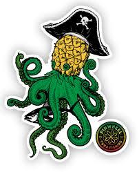 Pineapple Kraken Sticker Pinwheel Gear