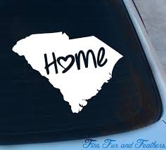 South Carolina Decal State Decal Home Decal Sc Sticker Etsy