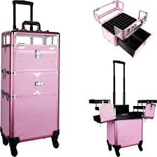 professional rolling cosmetic makeup case
