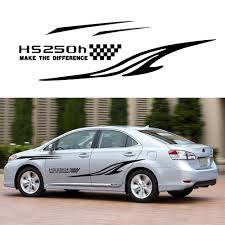 Car Accessories For Lexus Hs250h Car Stickers Car Side Body Decal Stickers Decals Diy Custom Decoration Racing Sticker 280cm Car Stickers Aliexpress