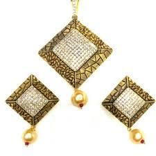 sterling square shaped designer pendant