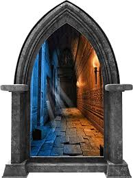 Amazon Com 24 Castle Scape Ice Fire Dungeon Hallway Granite Medieval 3d Window Wall Decal Removable Fabric Vinyl Wall Sticker Game Of Thrones Gift Party Decoration Home Decor 24 Tall X