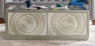 filton silver embossed coffee table