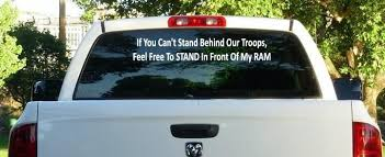 Dodge Ram Stand Behind Our Troops Window Decal By Cheapdecalshop 13 99 Troops Bumper Stickers Window Decals