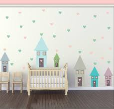 Cartoon Sweet House Wall Sticker Modern Colorful Heart Shape Decals For Kids Room Living Room Decoration For The House Vinyl Art Aliexpress Com Imall Com