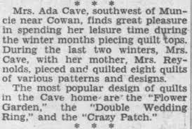 Ada Reynolds quilting - Newspapers.com