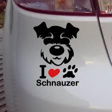 Schnauzer Vinyl Decal Waterproof Dog Stickers Car Stickers And Decals Wall Sticker Stickers And Decals Car Stickers And Decalssticker Car Aliexpress