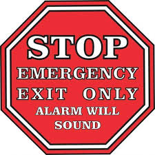 5inx5in Stop Emergency Exit Only Alarm Will Sound Sticker Vinyl Sign Decal Vinyl Signs Hand Sticker Signs