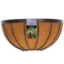 Gardman 40cm Black Georgian Wall Basket Baskets On Wall Hanging Wall Baskets Plant Wall
