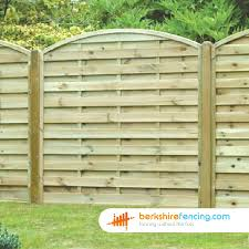 Arched Horizontal Fence Panels 6ft X 6ft Natural Berkshire Fencing