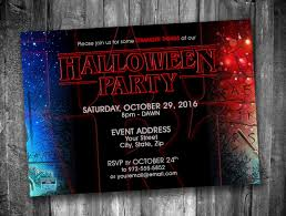 Stranger Things Halloween Party Invitation Personalized Digital