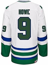 Amazon Com Reebok Gordie Howe Hartford Whalers Nhl Men S White Name Number Player 9 Jersey M Clothing