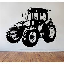 Zn Childrens Tractor Wall Art Wall Sticker Wall Decal Bedroom Living Room Vinyl Kids Room Decor Zm16 Room Decoration Kids Room Decorationsticker Wall Decal Aliexpress