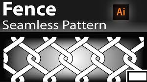 How To Create Seamless Patterns In Illustrator Seamless Fence Pattern Tutorial Youtube