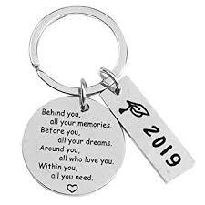 sodin elegant graduation gift keychain inspirational