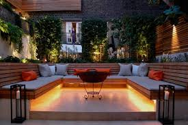 Urban West London Garden Uses Contemporary Slatted Screen Fencing Contemporary Patio London By Silva Timber Products Houzz Uk
