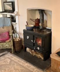 tiny wood cook stove range