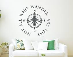 Buy All Who Wander Are Not Lost Wall Decal Quote Compass Wall Decal Nautical Compass Wall Decor In Cheap Price On M Alibaba Com