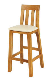 bar stool with a cream leather seat pad