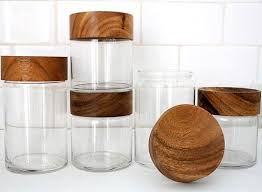 totally pretty jars with wooden lids
