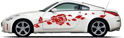 Amazon Com Picniva Rose Racing Car Body Side Stripes Sticker Decal 2 Pcs Automotive
