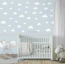 Nursery White Little Cloud Wall Decal Sticker Wall Decals Wallmur