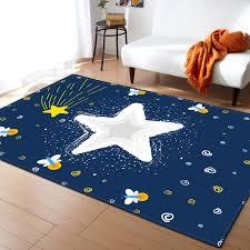 Modern Creative Moon Star Carpet Baby Livingroom Bedroom Blue Area Rugs Kids Floor Play Mat Large Size Tapete Soft Pad Carpet Aliexpress