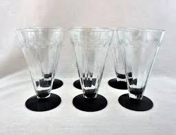 art deco highball glasses art deco