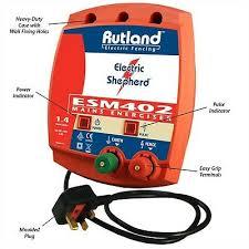 Rutland Esm 402 Mains Fence Energiser Electric Shepherd Fencing Esm402 Fencer 5031726091206 Ebay