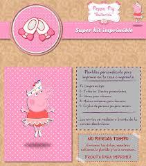 Kit Imprimible Peppa Pig Bailarina Ballet Personalizado Cand