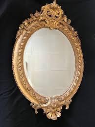 louis xv style oval mirror antiquités