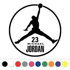 Michael Jordan Signature Vinyl Decal Sticker Autograph Car Bumper Window Wall 23 For Sale Online Ebay