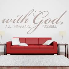 With God All Things Are Possible Quote Wall Sticker Religious Vinyl Wall Art For Room Decor Wall Decals And Murals Wall Decals And Stickers From Flylife 4 53 Dhgate Com