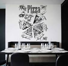 Kik1024 Wall Decal Sticker Pizza Ingredients Pizzeria Italian Restaurant Nadpisi Melom Dizajn Kafe Melovaya Doska