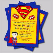 14 Unids Lote Personalizado Superman Cumpleanos Invitaciones Ninos