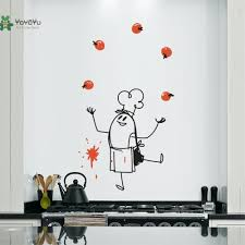 Wall Decal Vinyl Sticker Chef Wally Wall Art Creative Decoration Custom Color Kitchen Dining Room Decor Diy Design Mural Ww 357 In Wall Stickers From Home Garden On Aliexpress Com Alibaba Group