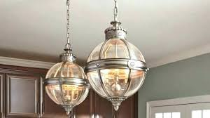 clear glass chandelier cement shades